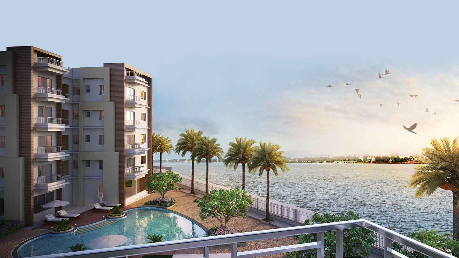 Rameswasra Riverview Apartments at Barrackpore